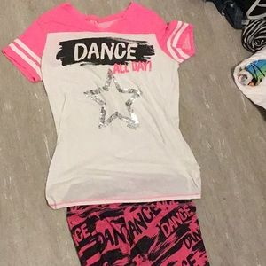 Other - A dance shirt with matching leggings